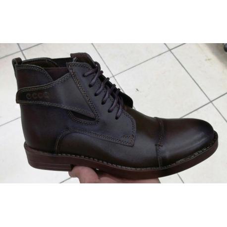 کفش ساقدار تمام چرم مردانه برند اکو